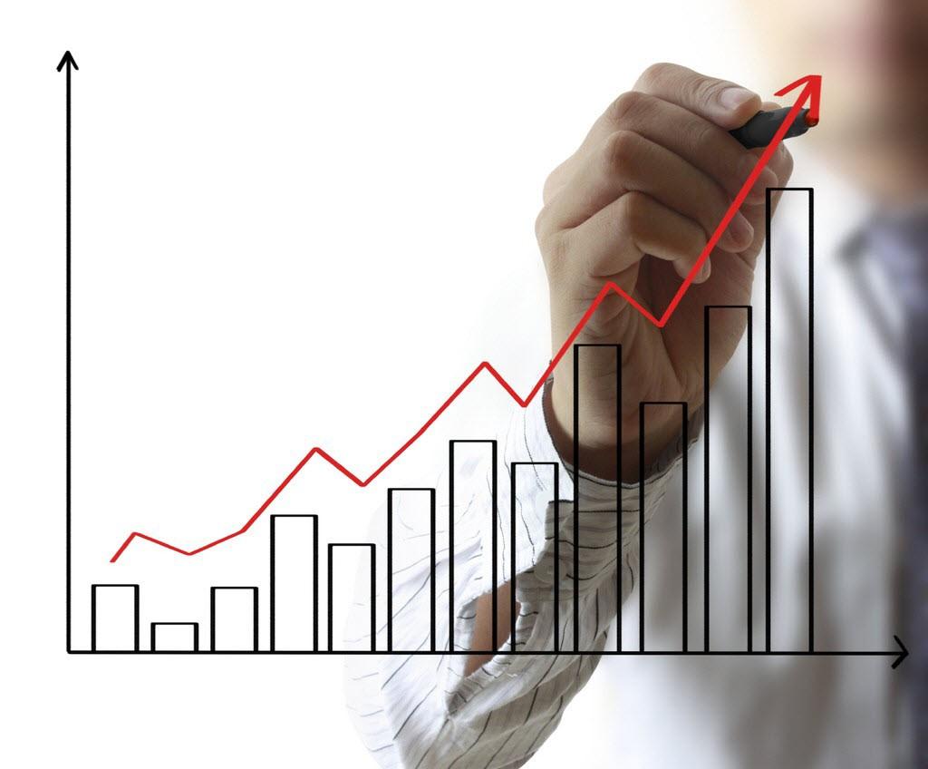 Bar chart illustrating business growth